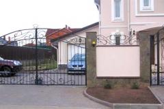 Распашные металлические ворота РВ-4